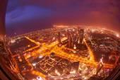 Dubai night skyline — Stock Photo