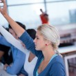 Group of Students raising hands up — Stock Photo #76181835