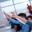 Group of Students raise hands up — Stock Photo #76368285