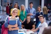 Öğrencilerin eğitim grubu — Stok fotoğraf