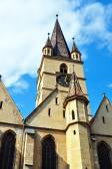 Sibiu city Romania Lutheran Cathedral — Stock Photo