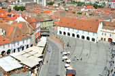 Sibiu city aerial view — Stock Photo