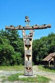 Crocifisso in legno — Foto Stock