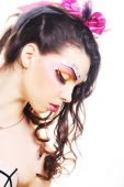 Beautiful lady with artistic make-up. — Foto de Stock