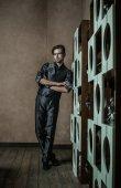 Fashion Man in luxury modern interior — Stock Photo