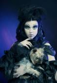Dark Beautiful Gothic Princess.Halloween party. — Stock Photo