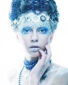 Christmas Winter Fairy woman. — Stock Photo
