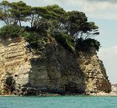 Blue caves on Zakynthos island - Greece — Stock Photo