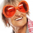 Senior woman wearing big sunglasses — Stock Photo #65045841