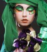 Woman with creative make up — ストック写真