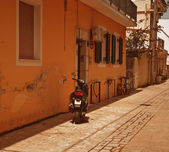 A typical street in Zante Town on the Greek island of Zakynthos — Stock Photo