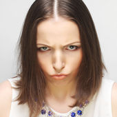 Dissatisfied young woman — Stock Photo