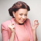 Young businesswoman in pink — Foto de Stock