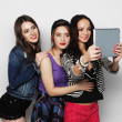 Girls friends taking selfie with digital tablet — Foto de Stock   #68193729