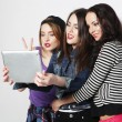 Girls friends taking selfie with digital tablet — Foto de Stock   #68193819