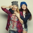 Two young girl friends — Stock Photo #68380919