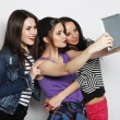 Girls friends taking selfie with digital tablet — Foto de Stock   #68847981