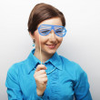 Playful young women holding a party glasses. — Stock Photo #69496893