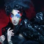 Dark Beautiful Gothic Princess. — Stock Photo #69571627