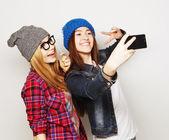 Women taking selfie — Stock Photo