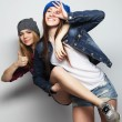 Two young girl friends — Stock Photo #69926867