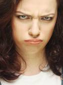 Portrait of dissatisfied young woman — Stock Photo