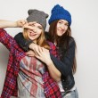 Two young girl friends — Stock Photo #70118143