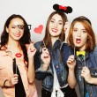 Hipster girls best friends ready for party — Stock Photo #70748651