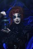 Gothic witch. Dark woman. — Stock Photo