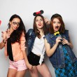 Hipster girls best friends ready for party — Stock Photo #71116425