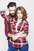 Hipster couple. — Stock Photo