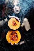 Halloween häxa — Stockfoto