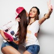 Two girl skaters — Stock Photo #72261745