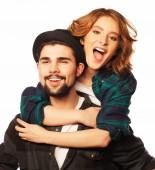 Happy loving couple — Stock Photo