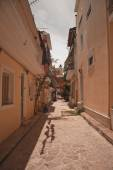 A typical street in Zante Town — Stock Photo