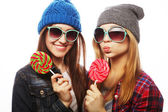 Two cheerful best friends — Stock Photo