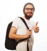 Happy young bearded man — Stock Photo