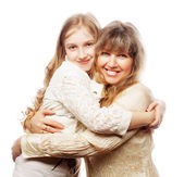 Mother and daughter, happy family — Stock Photo