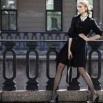 Beautiful city woman has walking on a street — Stock Photo #74980177