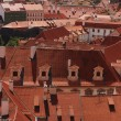 Houses with traditional red roofs in Prague — Stock Photo #77029819