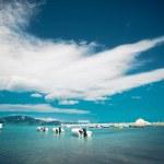 Fishing boats  in the Ionian sea — Stock Photo #77751482