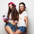 Two girl skaters — Stock Photo #77751530