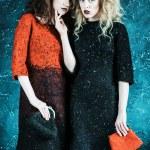 Vogue style photo of two fashion ladies — Stock Photo #78311796