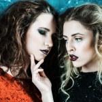 Vogue style photo of two fashion ladies — Stock Photo #78311800