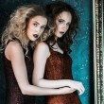Vogue style photo of two fashion ladies — Stock Photo #78311802
