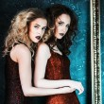 Vogue style photo of two fashion ladies — Stock Photo #78927356