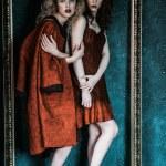 Vogue style photo of two fashion ladies — Stock Photo #81387290