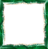 Green agate frame — Stock Photo