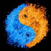 Yin and yan symbol — Stock Photo