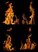 Orange flames — Stock Photo